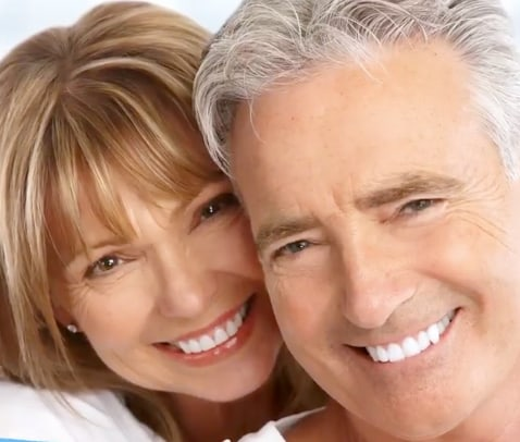 A featured website image for a trenton dentist featuring a smiling couple