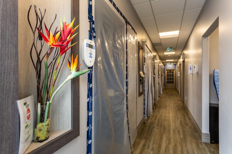 Belleville dentist You Make Me Smile dental centre's office hallway