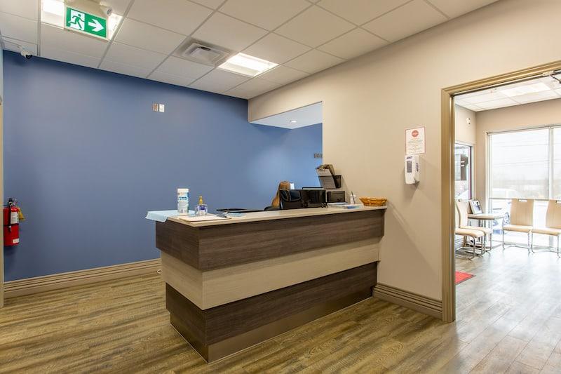 Belleville dentist You Make Me Smile Dental Centre's front reception area from the front