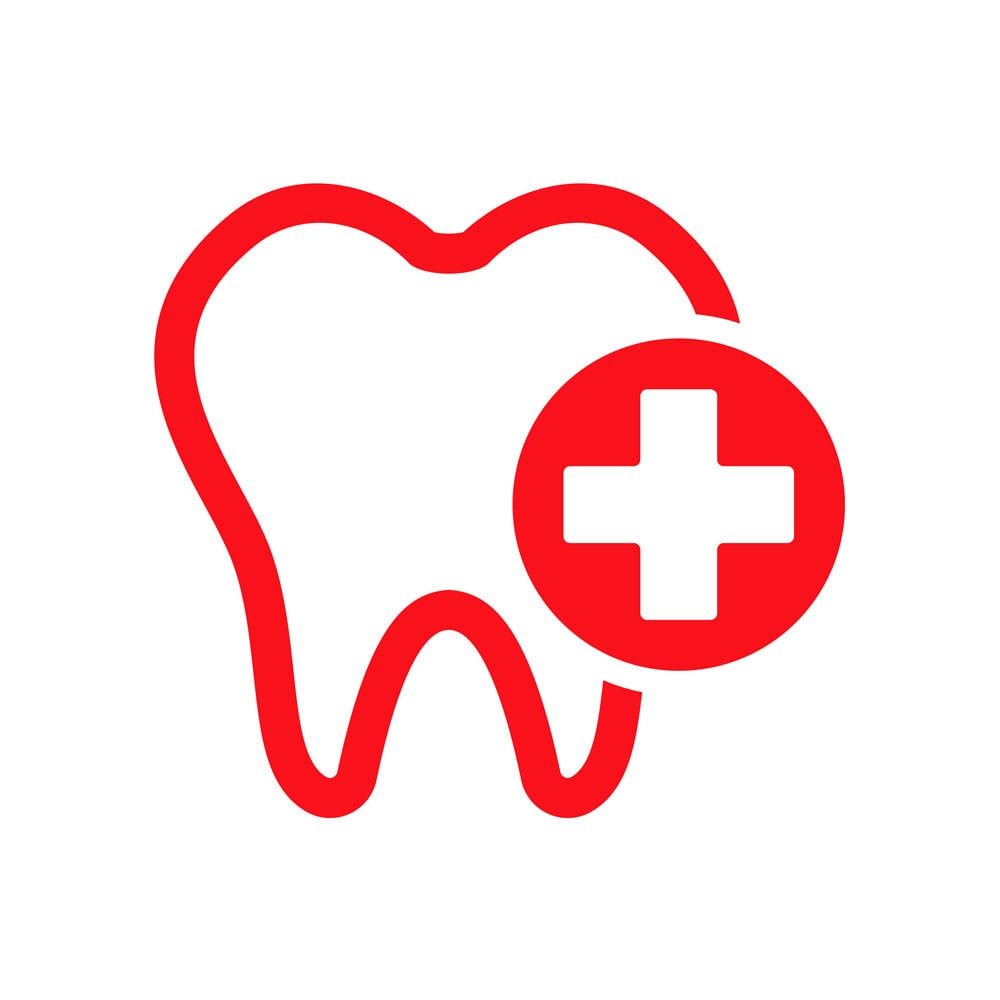 A featured website image for emergency dentist in belleville featuring a dental emergency tooth icon