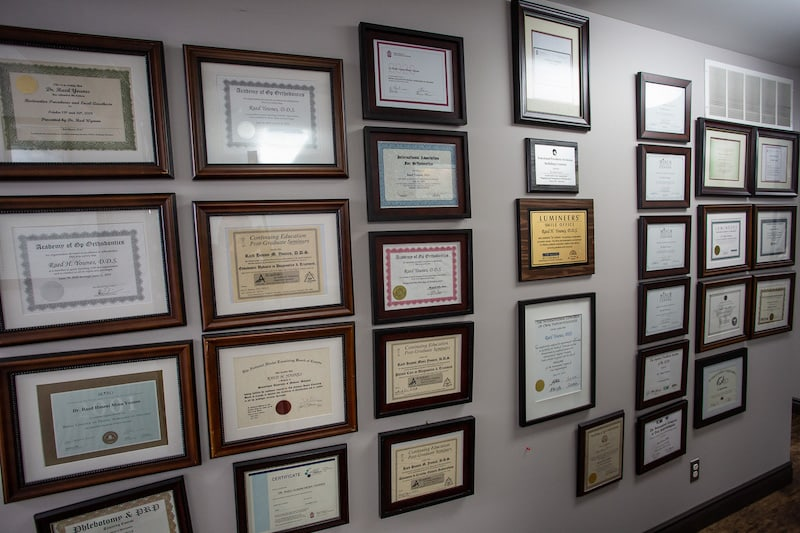 You Make Me Smile Dental Centre wall of accolades